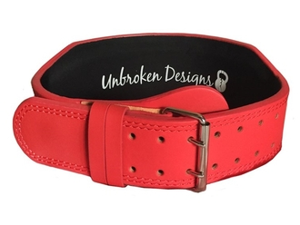 【Unbroken Designs】Matte Red 10センチ レザーベルト