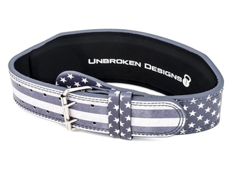 【Unbroken Designs】Stars and Stripes 10センチ レザーベルト