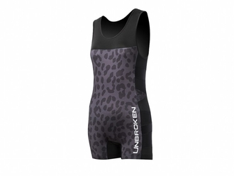 【Unbroken Designs】Leopard and Lace Singlet